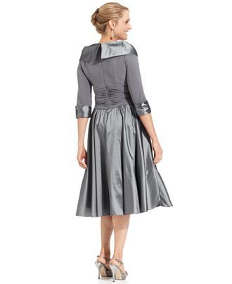 b7204e152e3 Jessica Howard Portrait Collar A-Line Dress - Mother of the Bride Dresses -  Women - Macy s FOR KELLEY