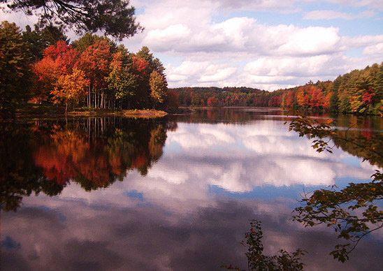 """Reflections of autumn, shot with a Samsung camera. (Courtesy aimeeduran13/myBudgetTravel)"