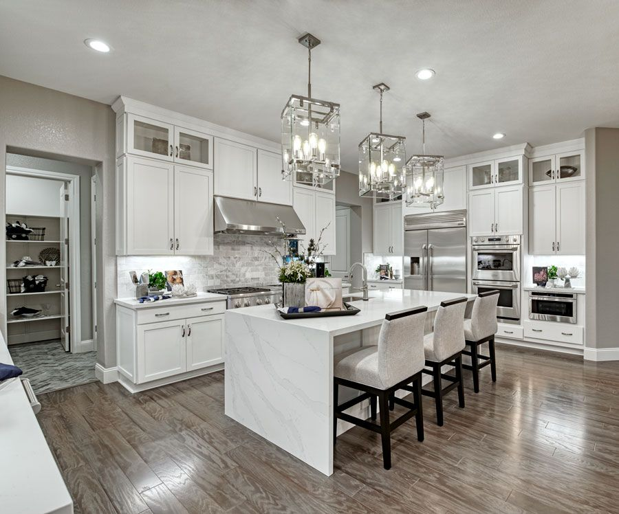 Waterfall Island Pascal Model Home Gourmet Kitchen Hayward