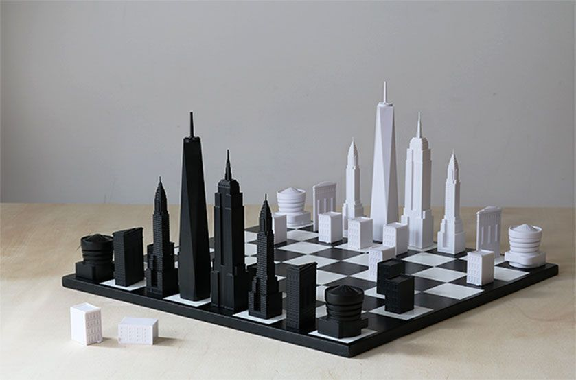Skyline Chess, New York edition. Design: Skyline Chess, Ian Flood and Chris Prosser