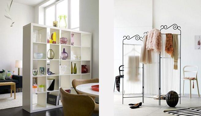 Ideas para dividir ambientes decorative objects for Mamparas para dividir ambientes