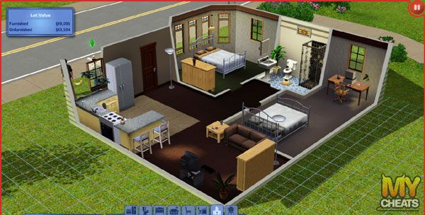 Simple Sim Home Sims House Sims House Plans Sims 2 House