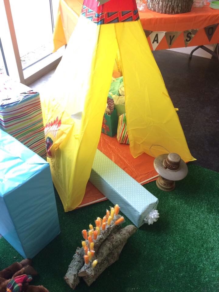Tee pee with a few gifts