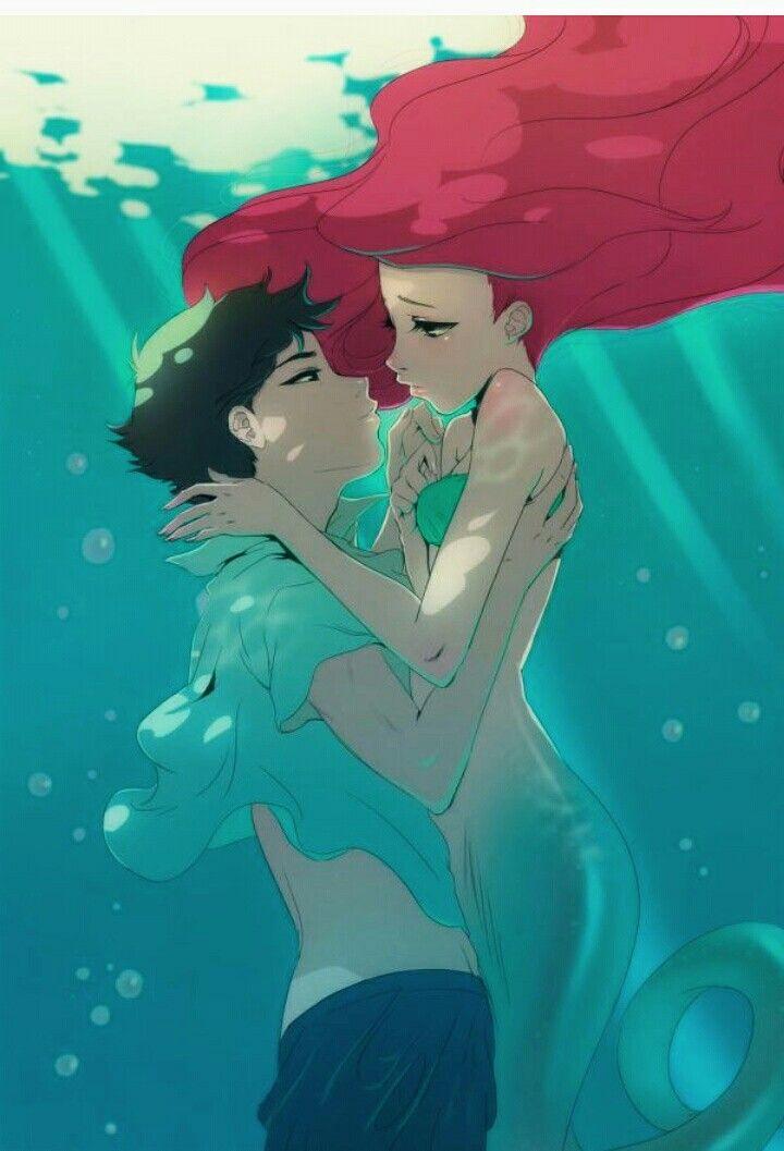 Ariel forever disney art disney artwork anime version