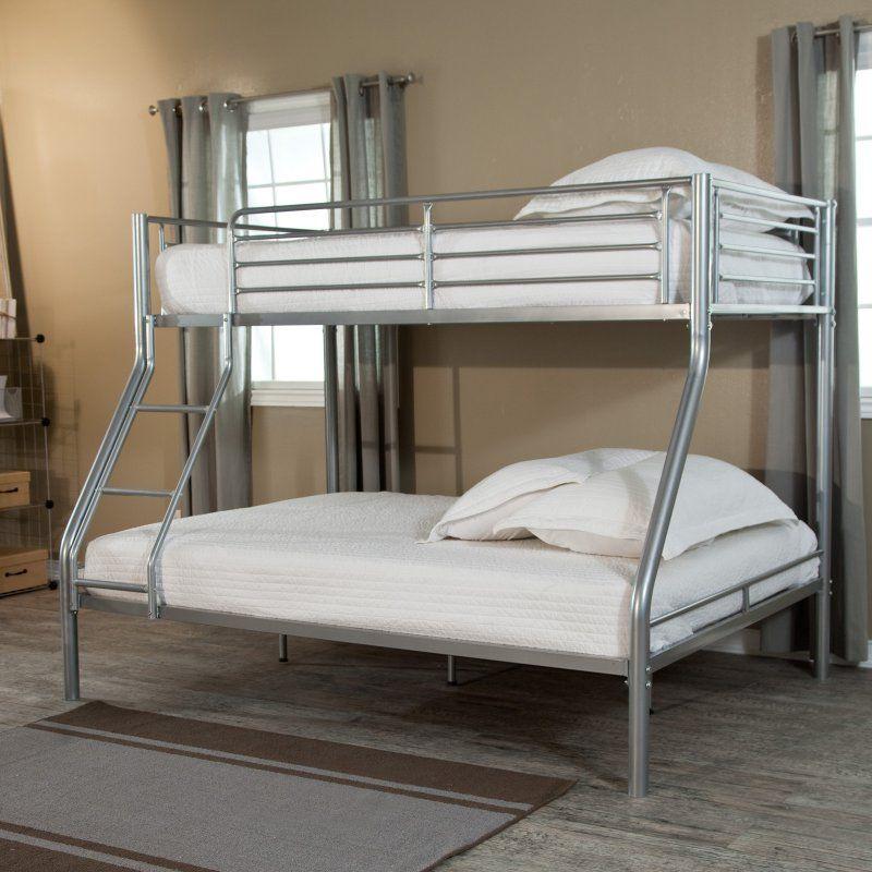 Duro Wesley Twin Over Full Bunk Bed Silver Sbp006kdslt
