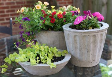 How to Make Concrete Flower Pots