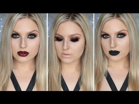 Gothic Inspired Dramatic Makeup! ♡ Nude, Ombré & Black Lips!