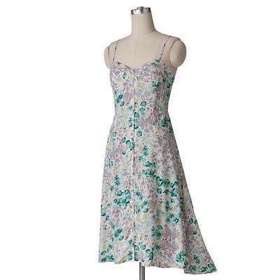 I bought this dress over the Summer at Kohls..love it..so cute...LC Lauren Conrad Floral Hi-Low Dress