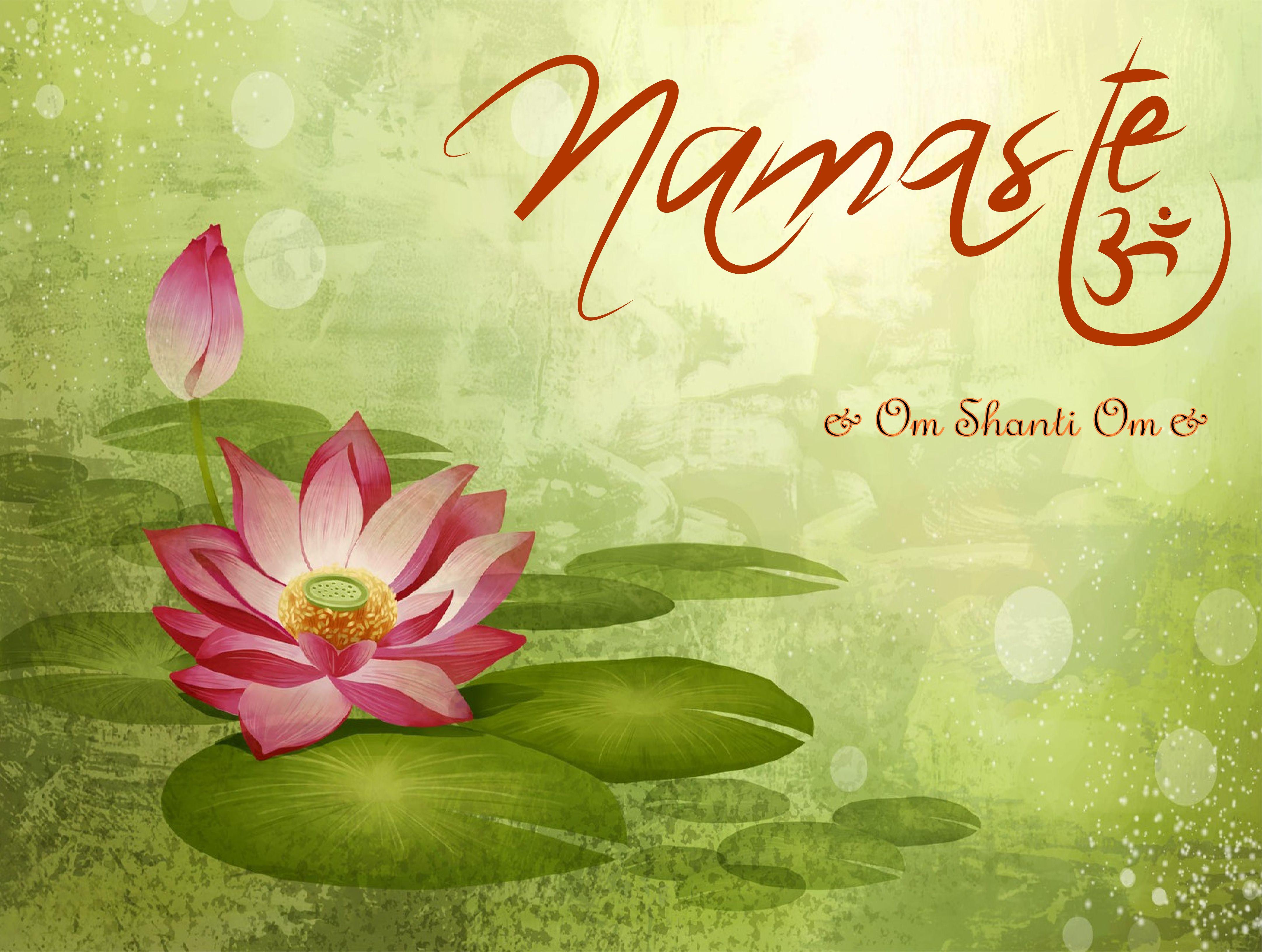 Om Shanti Lotus Flower Images Drawing Wallpaper Lotus