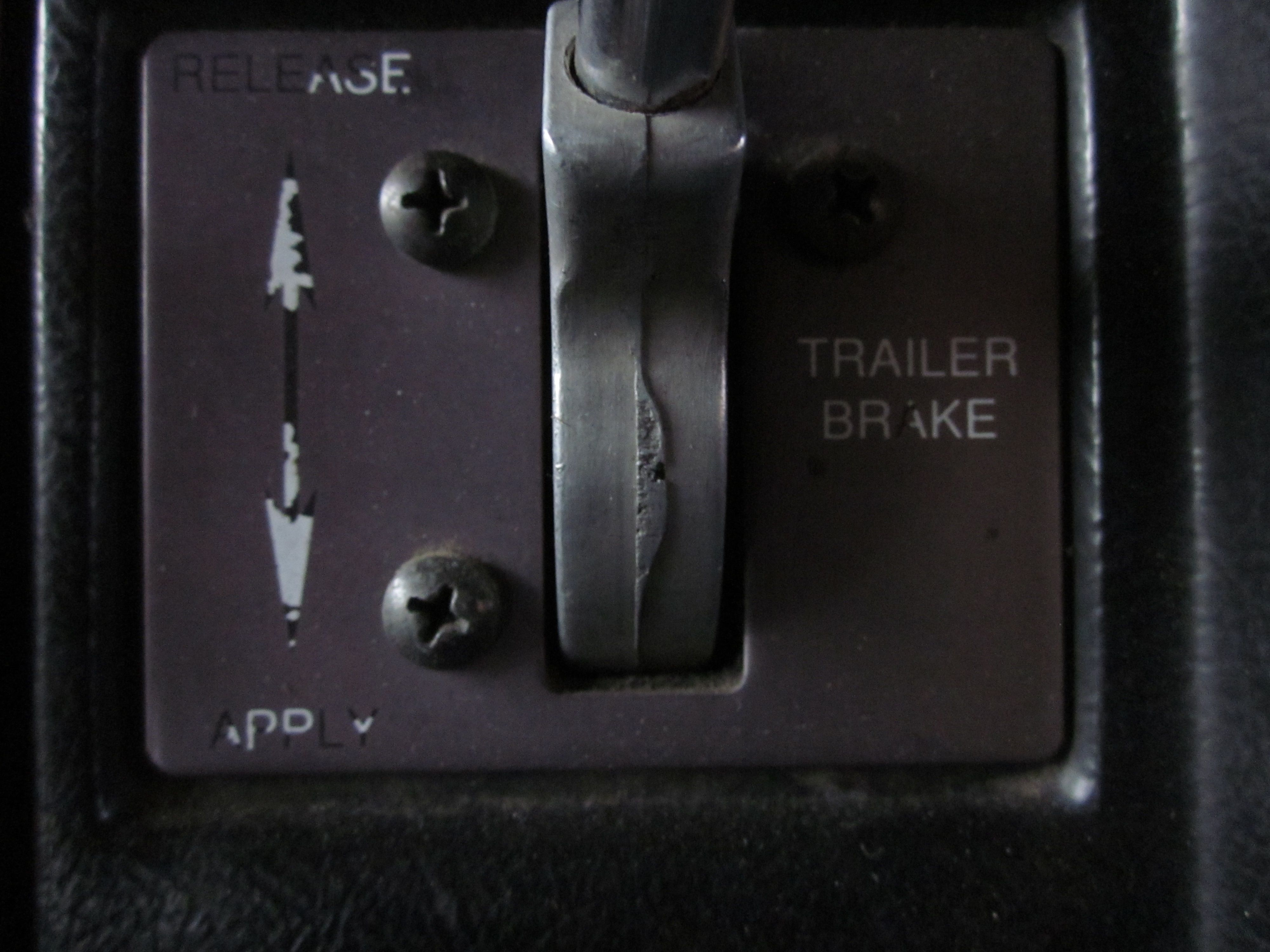 Trolley Valve or Trailer Air Brake used to check fifth