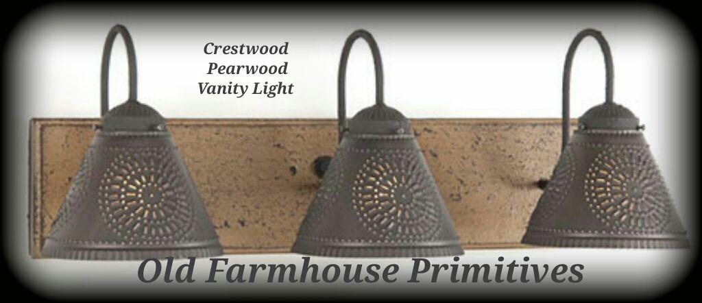 Crestwood Primitive Bathroom Vanity Light Primitives