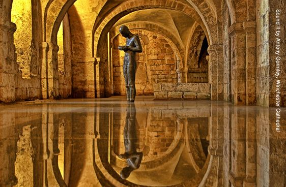 Anthony Gormley - Sound II. Winchester Cathedral.