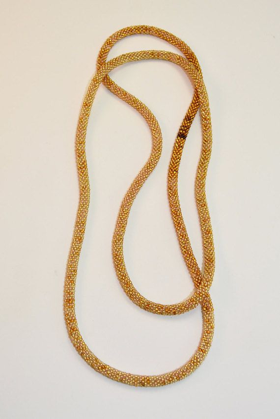 Handmade Bead Crochet Necklace by BOOMINGGRANNY on Etsy