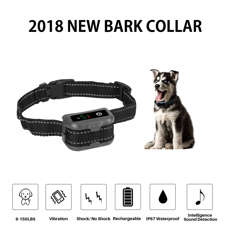 Mekuula Rechargeable Dog Bark Collaranti Barking Collar For Small Medium And Large Dog With Beep Vibration And Dog Barking Dog Shock Collar Dog Training Collar