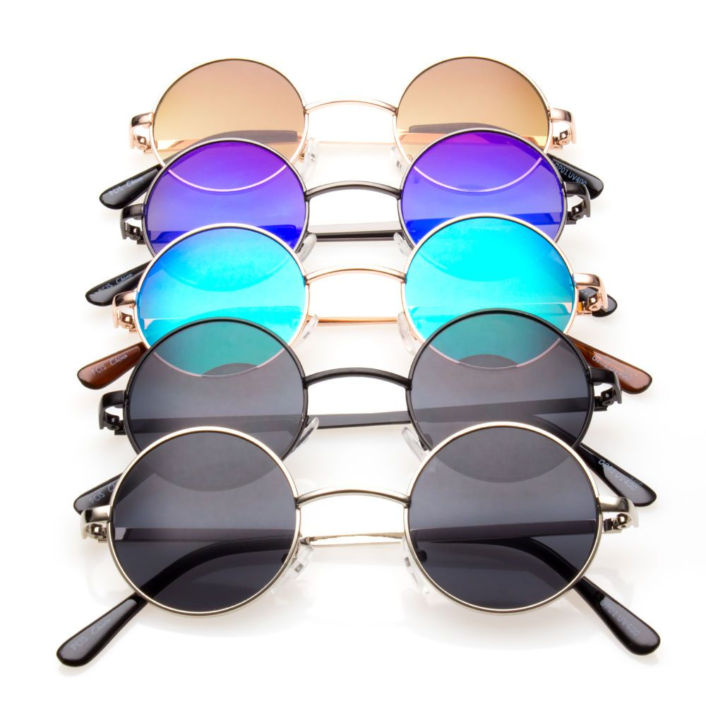e8ebccf3dfc John Lennon Vintage Retro Classic Circle Color Round Sunglasses Men Women w   Designer  Round