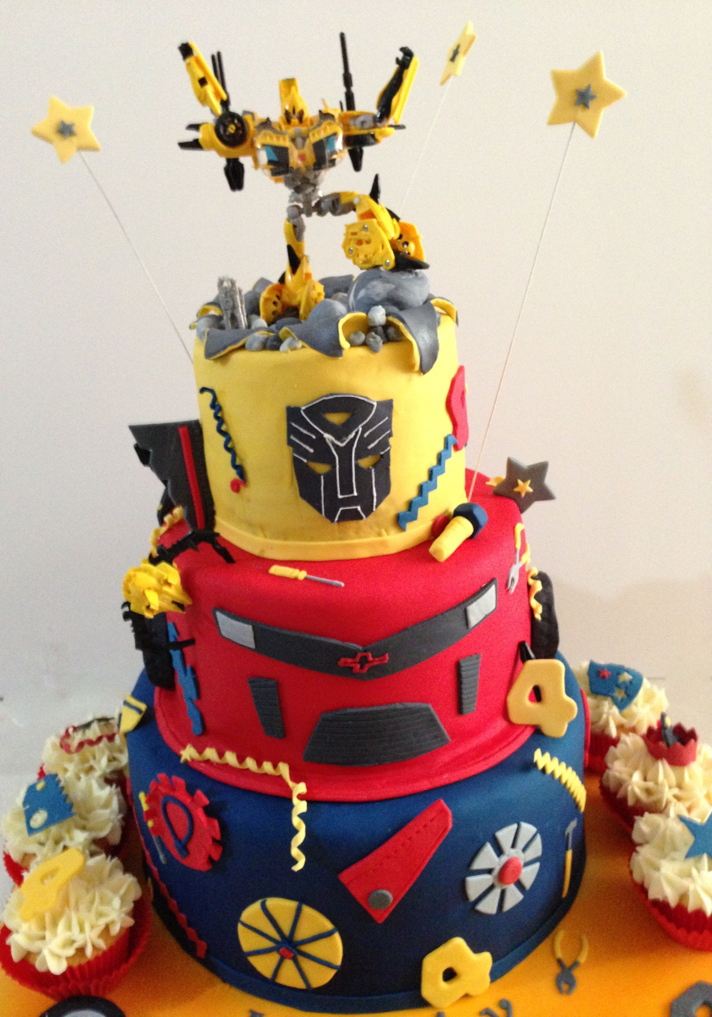 Phenomenal Transformer Birthday Cake With Images Transformers Birthday Funny Birthday Cards Online Alyptdamsfinfo