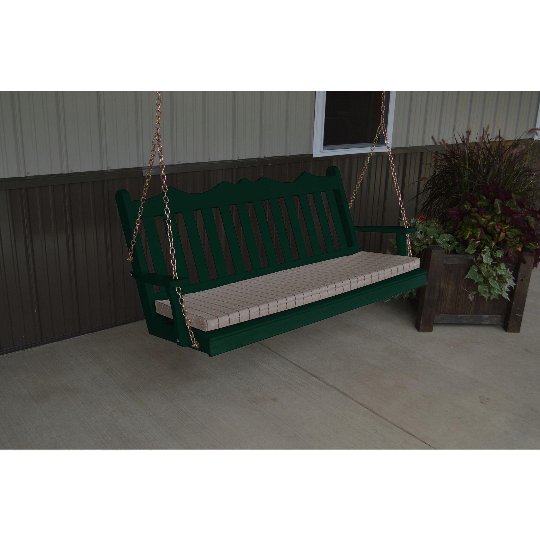 A u l furniture royal english yellow pine ft porch swing porch