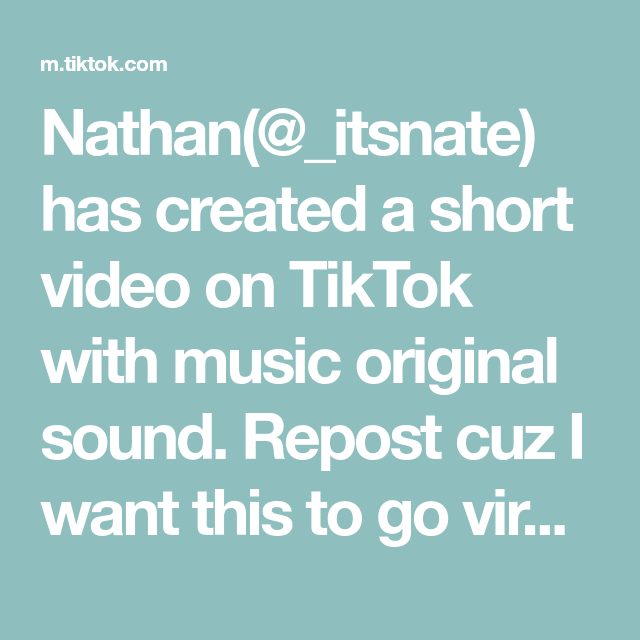 Nathan Itsnate Has Created A Short Video On Tiktok With Music Original Sound Repost Cuz I Want This To Go Viral Foryou Elevator Music The Originals Music