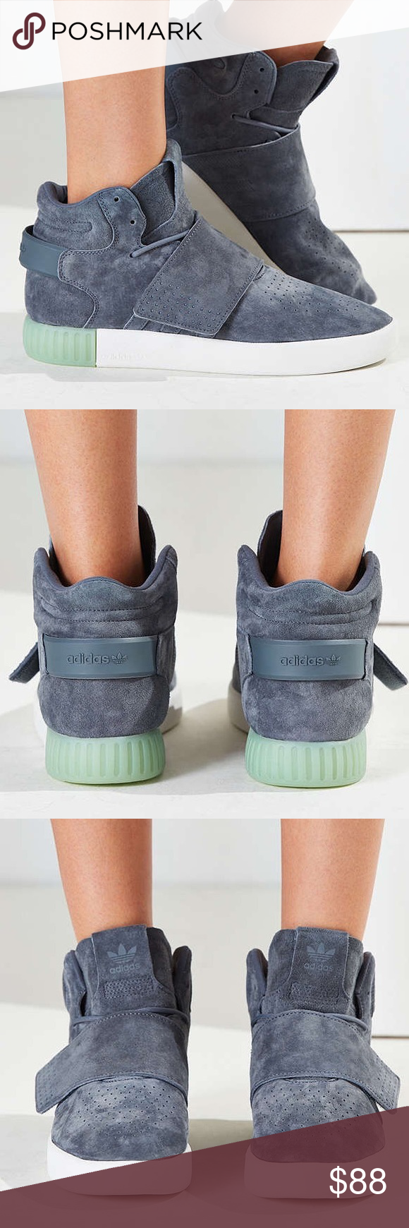 New adidas originals tubular invader strap sneaker New adidas tubular invader  strap sneaker size 6 women s. Color is grey (onix icegreen). d08f2218fa
