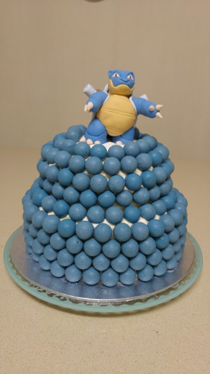 Cake Decorating Balls Blastoise Fondant Figurine Blue Velvet Two Tier Chocolate