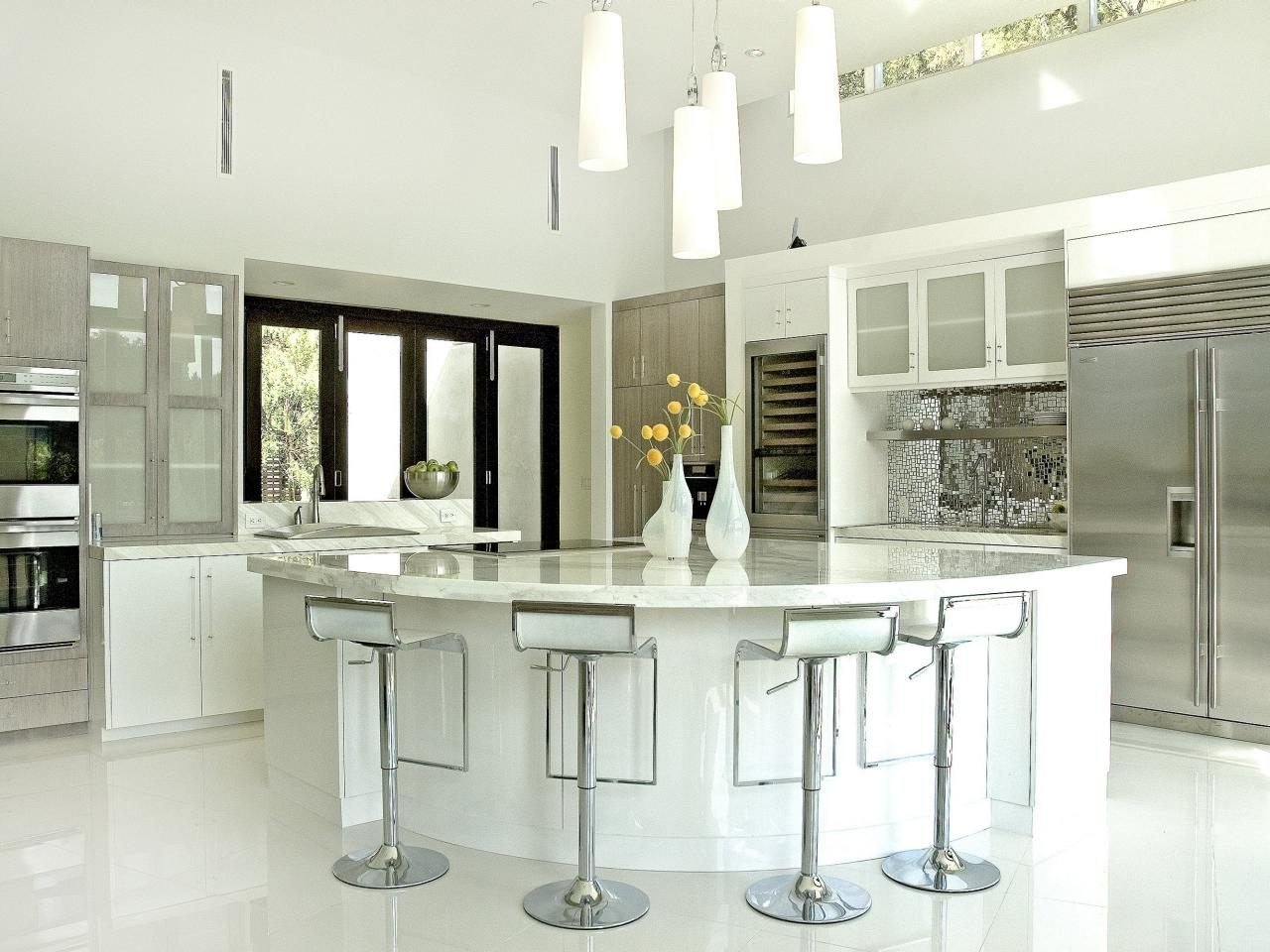 Kitchen Backsplash Ideas For White Cabinets Modern Minimalist Cool White Kitchen Design Decorating Inspiration