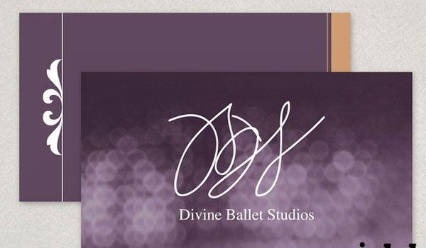 Elegant Ballet Business Card