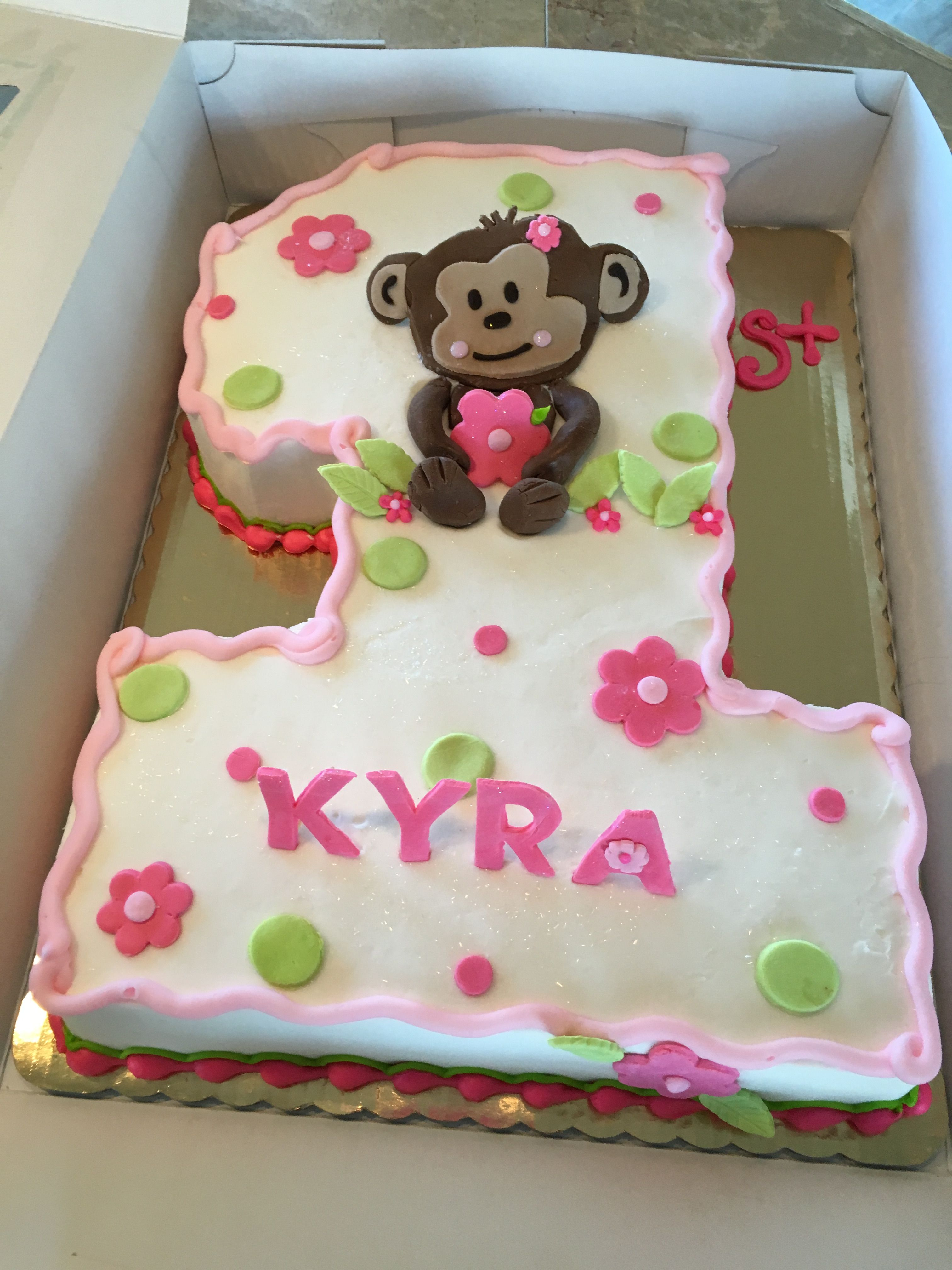 Prime Monkey First Birthday Cake With Images Monkey First Birthday Personalised Birthday Cards Veneteletsinfo