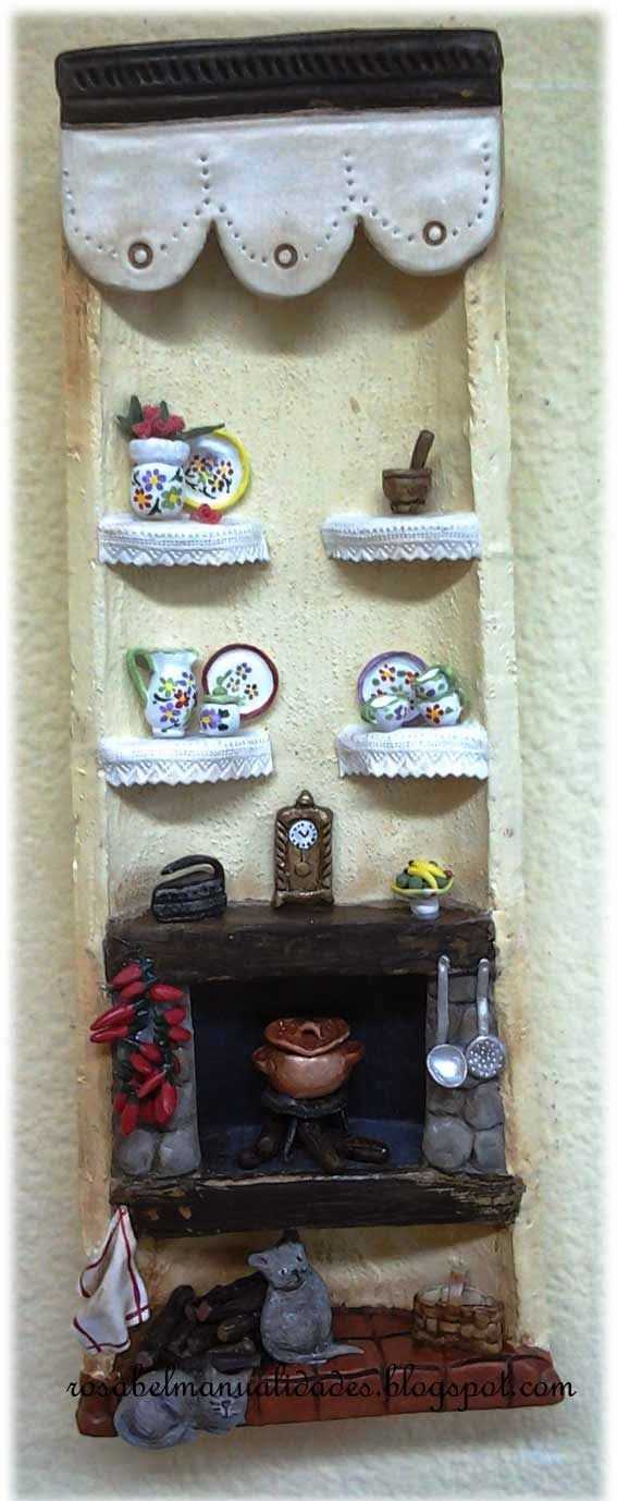 Rosabel manualidades tejas decoradas tejas decoradas pinterest searching miniatures and - Rosabel manualidades ...