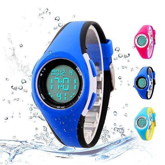 d7329055d Kids Digital Sport Watch Outdoor Waterproof LED Watch with Alarm for Child  Boy Girls Gift Kids