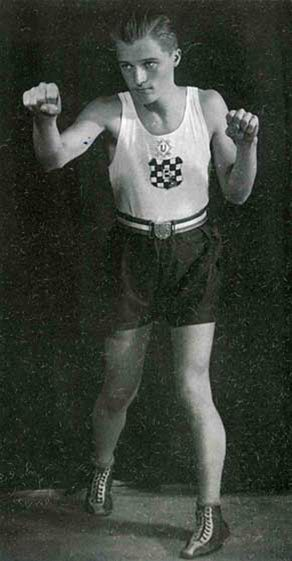 A boxer from the Independent State of Croatia (NDH) 1941 - 1945
