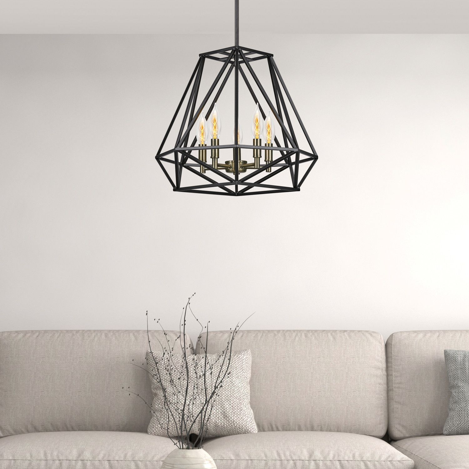 Attirant Check Out Our Sansa Chandelier, A Beautiful 5 Light Geometric Pendant. You  Will Love