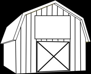 Black and White Cartoon Barn | Black White Barn clip art - vector ...