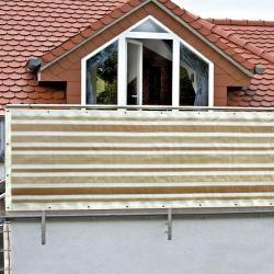 Photo of Gardol balcony privacy screen (beige / white, 5 x 0.9 m) GardolGardol