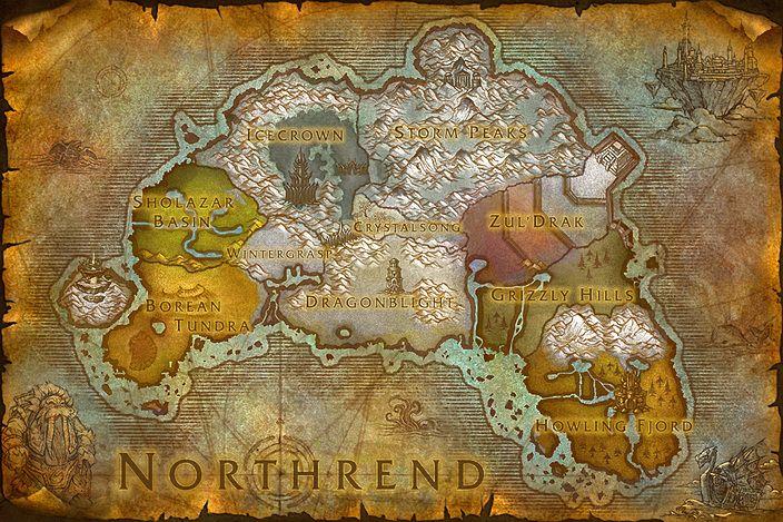 northrend Warcraft map, Warcraft, World of warcraft