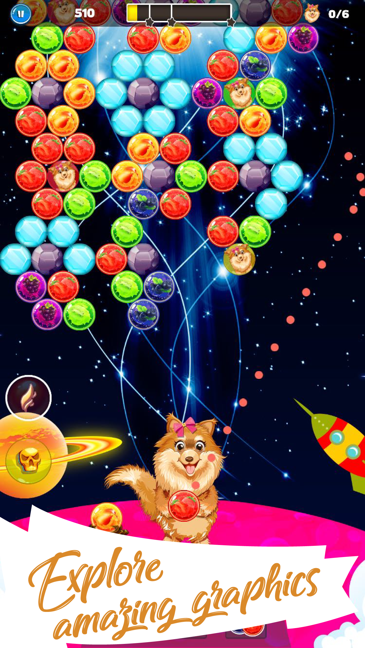 Play Doggy Bubble Shooter Fun Game with over 300