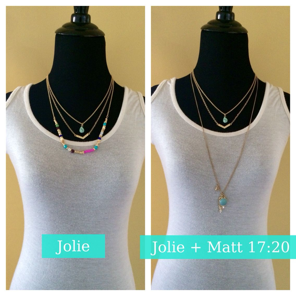 Jolie  Left: Jolie, Right: Jolie (with third strand removed) and Matthew 17:20  #pdstyle #hellospring #matthew1720 #jolie #hellostyle #spring2015