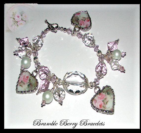 Broken China Charm Bracelet  Broken China by brambleberrybracelet, $75.00