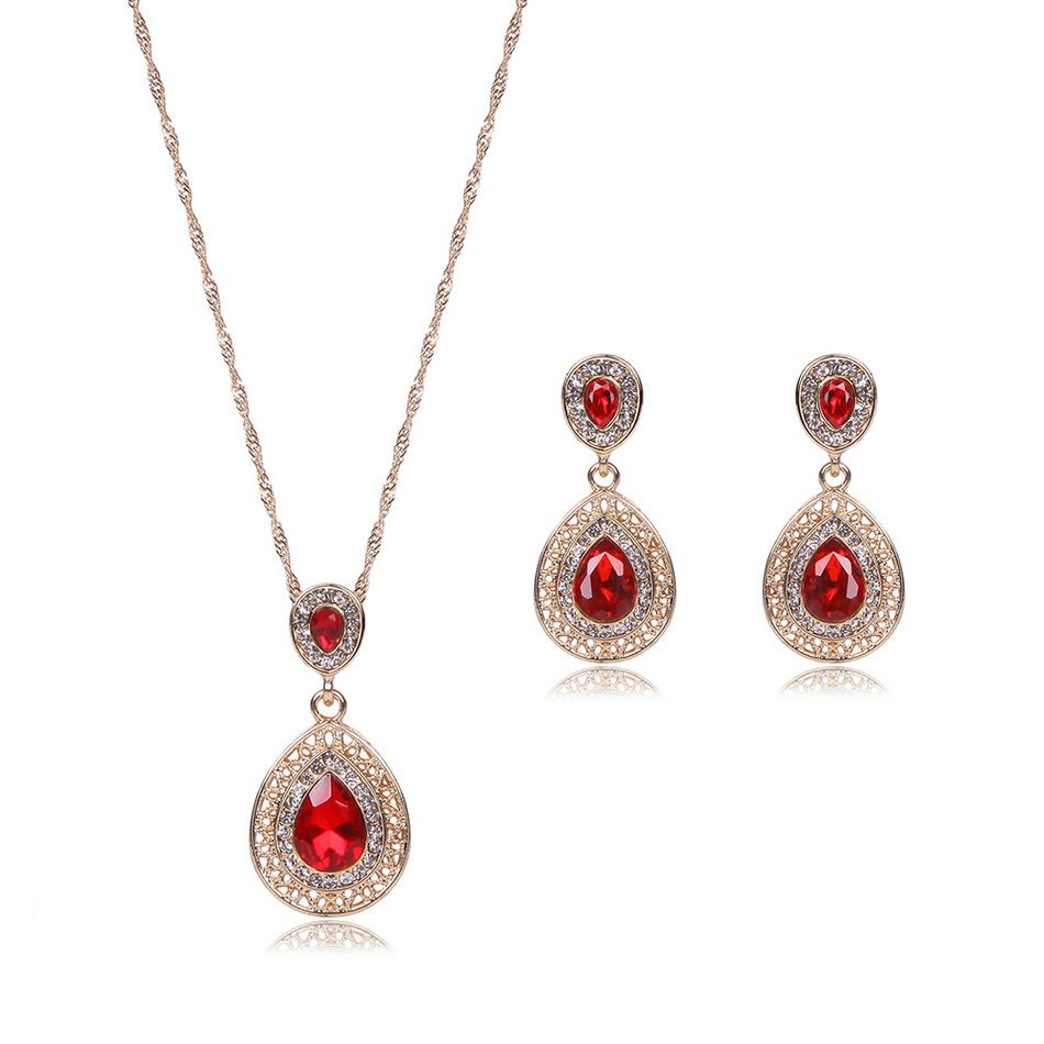 new luxurious major suit rhinestone alloy drip necklace