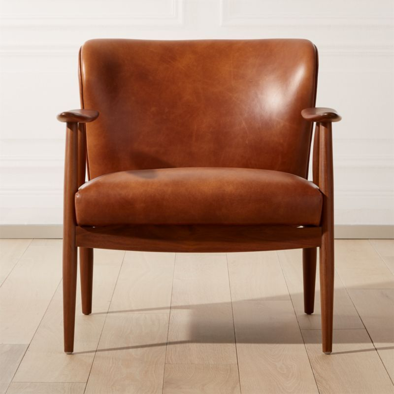 Troubadour Saddle Leather Wood Frame Chair Reviews Cb2 Brown Leather Chairs Leather Accent Chair Leather Armchair