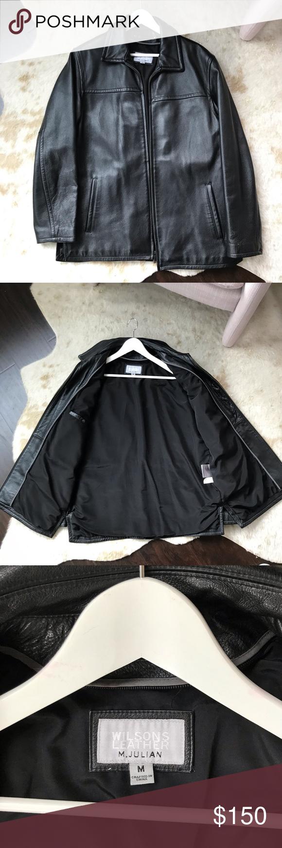 Men's Wilson's M. Julian Black Leather Jacket Leather