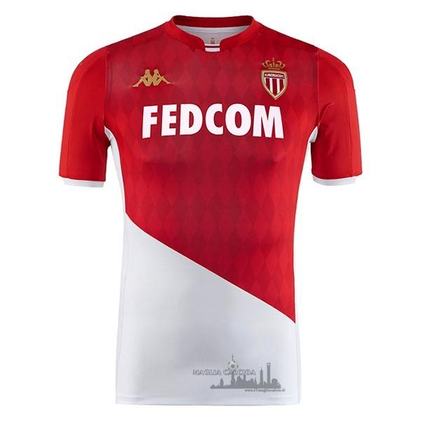Vendita Divise Calcio Home Maglia AS Monaco 2019 2020 Rosso Bianco ...