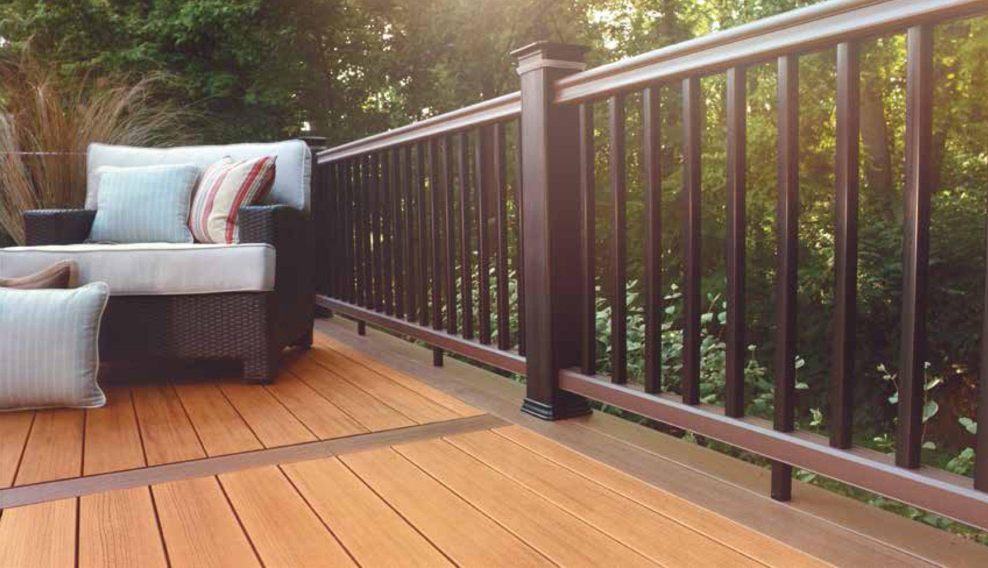 Timbertech Tropical Decking Collection In Teak Design The Deck Of Your Dreams At Meek S