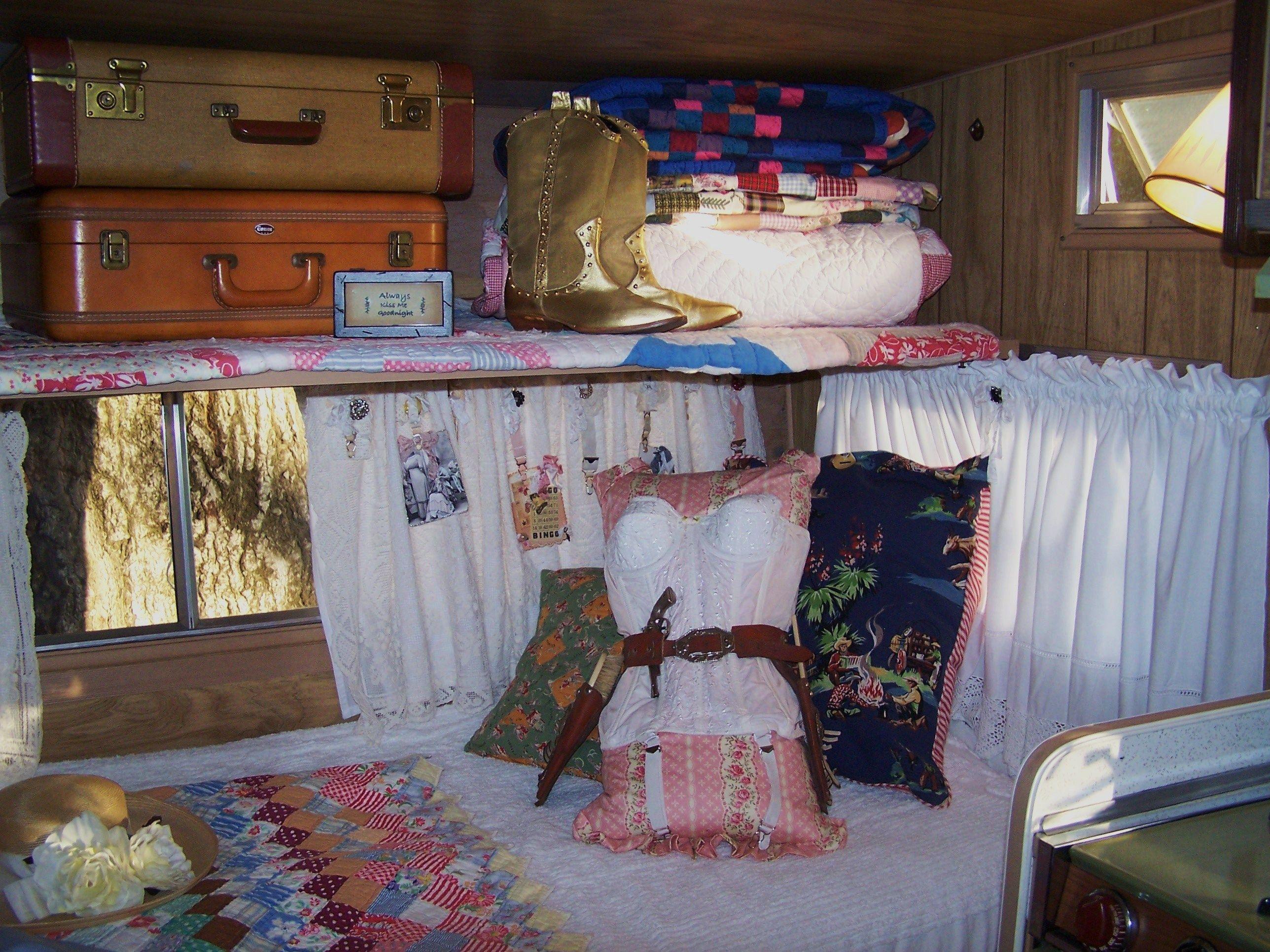 Vintage camper interior Vintage camper interior, Hippie