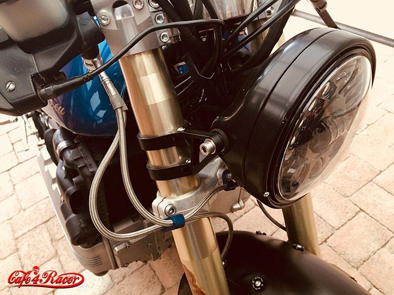 BMW K100     R1 forks     HIGHSIDER headlamp holder  LED headlight