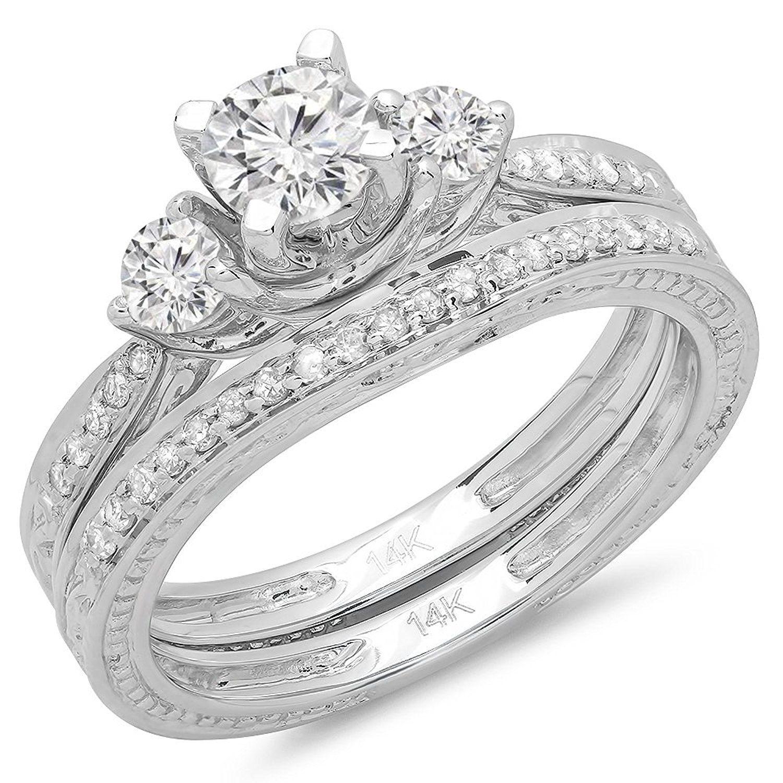 1.00 Carat (ctw) 14K Gold Round Diamond Ladies Vintage 3