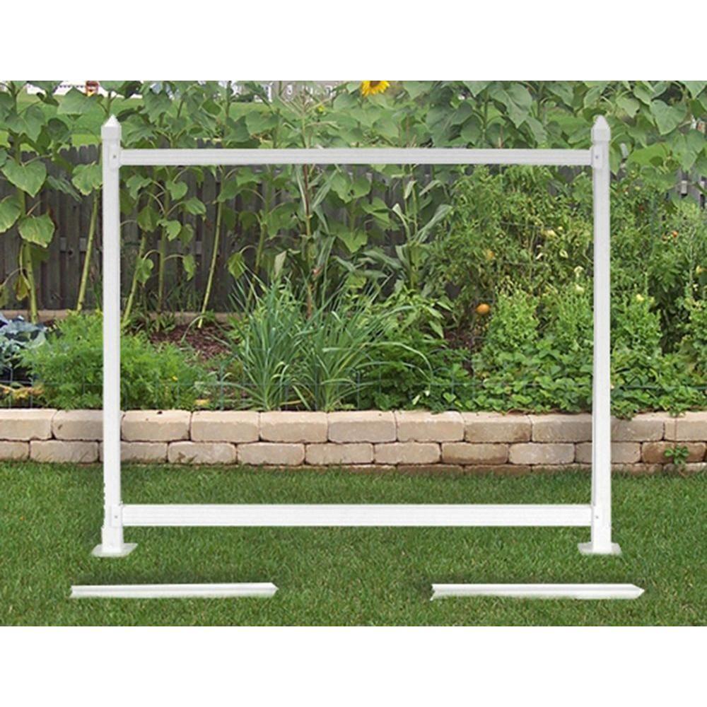 SnapFence 3 ft. x 4 ft. White Vinyl Fence Extension Kit
