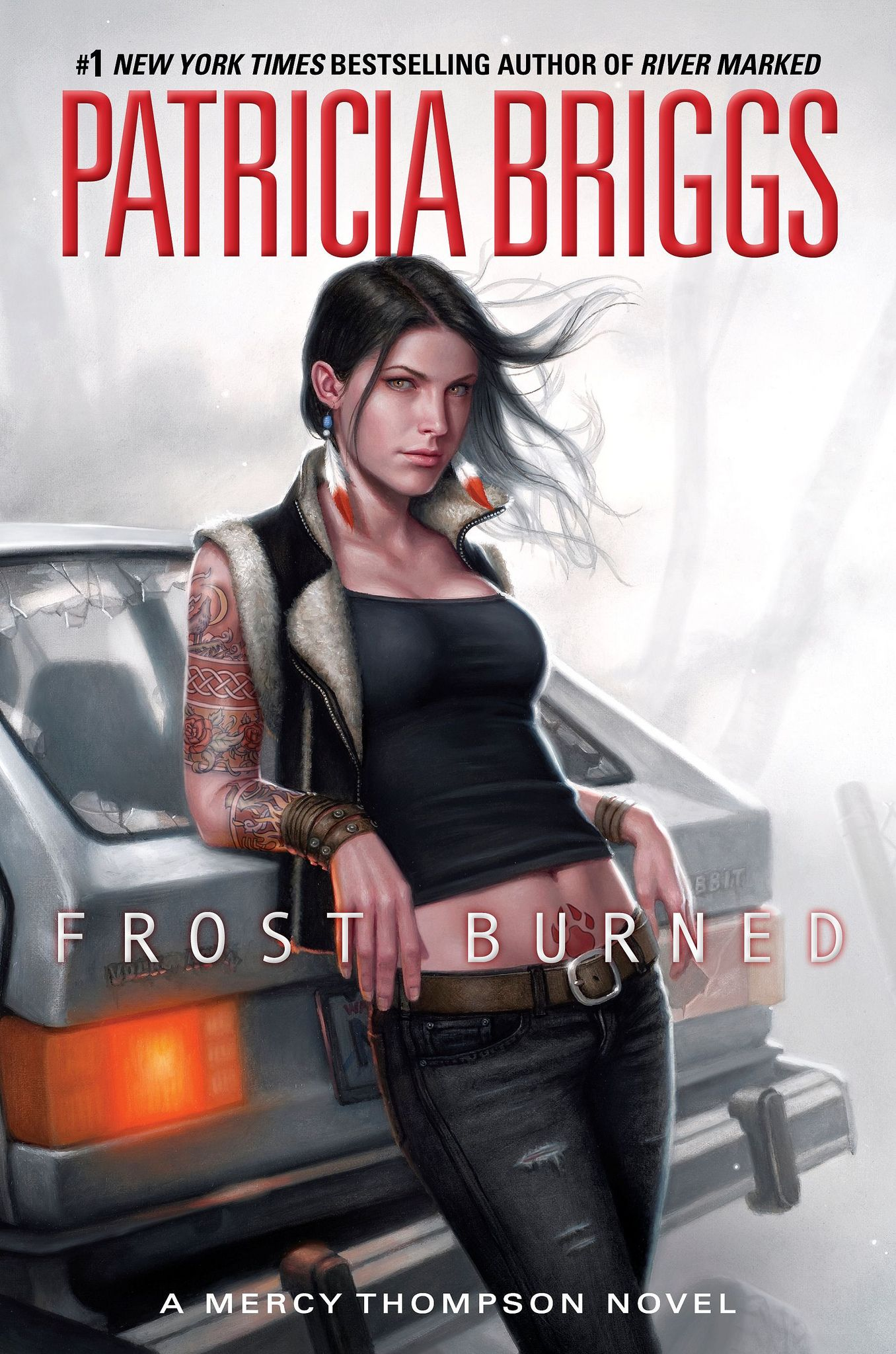 Review: FROST BURNED by Patricia Briggs | Book 7 of the Mercy Thompson series | rating: 4 out of 5 | http://www.cherrymischievous.com/2013/12/review-frost-burned.html