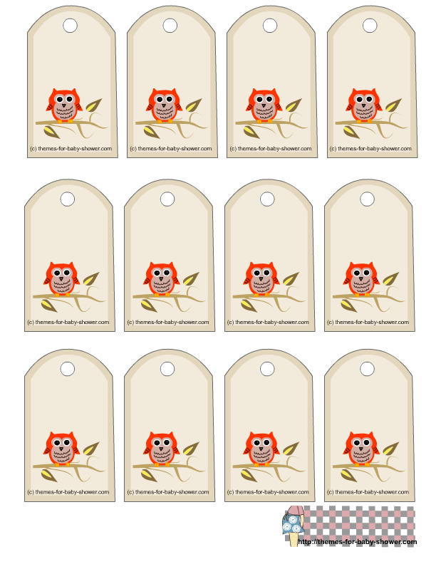 Free printable owl baby shower favor tags owls printables free printable owl baby shower favor tags negle Image collections