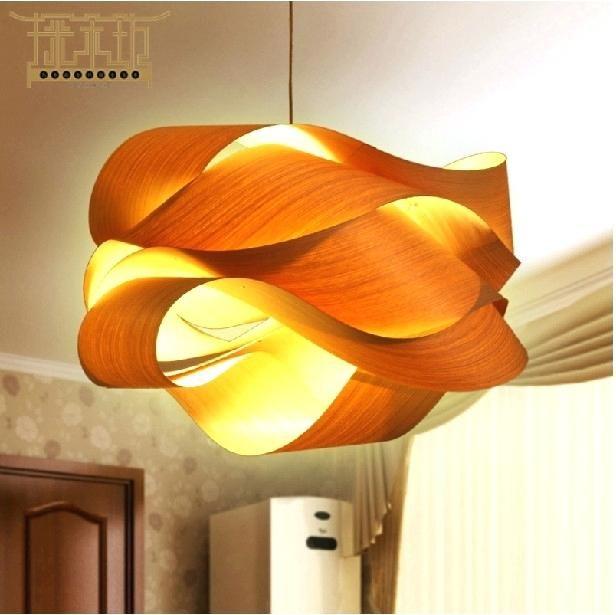 inspiring mid century hanging light bedroom | modern wood lighting wooden pendant lamp by designer ...