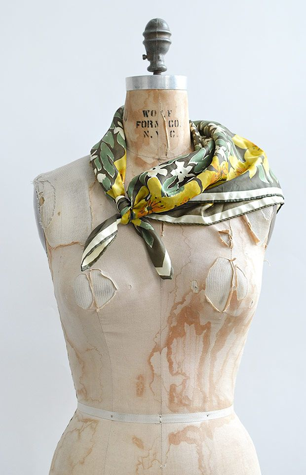 vintage 1960s Vera scarf / Hidcote Scarf from Adored Vintage